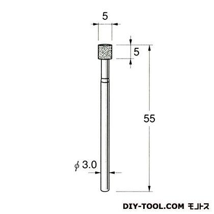 電着DIA砥石  先端径:5粒度:#170 D7105
