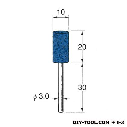 セラミックゴム砥石 ブルー 先端径:10粒度:#120 R2142
