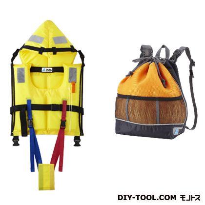 【送料無料】TSUNA GUARD ツナガード子供用固型式ライフジャケット&巾着型リュック TG-Y2O 0