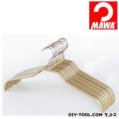 MAWA社 10本セットマワハンガー滑らないハンガーレディースハンガー ゴールド 210919