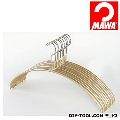 MAWA社 10本セットマワハンガー滑らないハンガーレディースライン ゴールド 210913