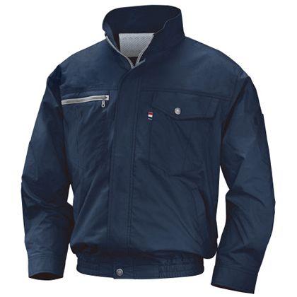 NSP NA-202空調服立ち襟薄手綿(服) ネイビー 5L 554582397507714