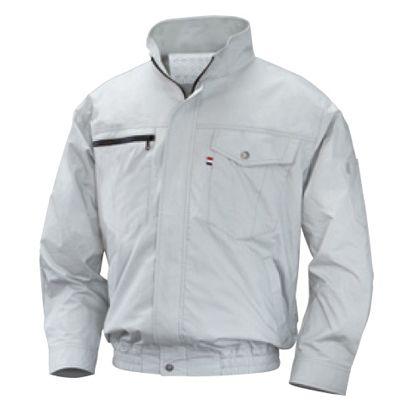 NSP NA-202空調服立ち襟薄手綿(服) シルバー L 554582397507608