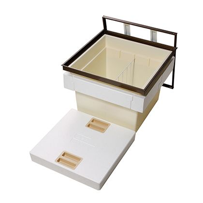 気密断熱床下収納庫深型 シルバー 外形寸法(mm):616×616×高さ463間口寸法(mm):606×606 N6DSJ