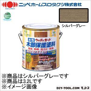 【送料無料】ニッペホーム 水性ウッディガード シルバーグレー 3.2L 10