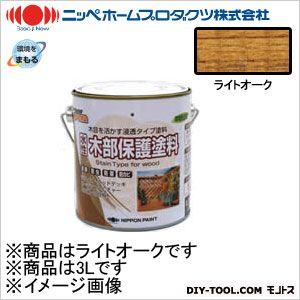 ニッペホーム 水性木部保護塗料 ライトオーク 3L 05