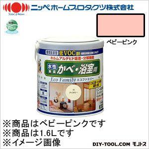 ニッペホーム 水性エコファミリー ベビーピンク 1.6L 09