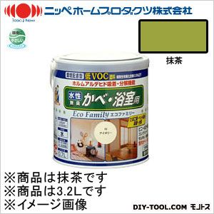 【送料無料】ニッペホーム 水性エコファミリー 抹茶 3.2L 16 0