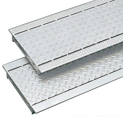 奥岡製作所 スチール製 縞鋼板貼りグレーチング プレーンタイプ 溝幅90用 W80×L995×H19mm(ピッチ66) JKA-9