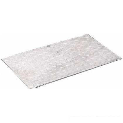 奥岡製作所 スチール製 縞鋼板製みぞ蓋(ズレ止め付き)溝幅90用 W80×L600×H3.2mm JUP-9