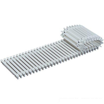 樹脂グレーチング 抗菌タイプ・耐候性 標準ノンスリップ・ゴムレールタイプ 溝幅100用  W150×L1000×H25mm JJA-150