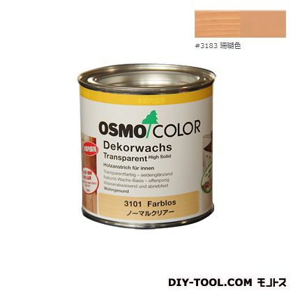 オスモカラーウッドワックスオパーク日本の色 珊瑚色 0.375L 3183