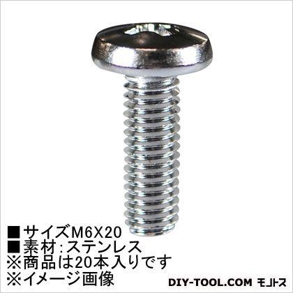 小ねじバインド(ステン)  M6×20 62683 20 本