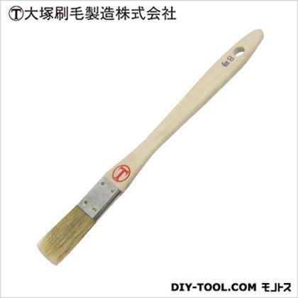 マルテー 豚毛 金巻 平 白 8号 D6×W24×H204(mm)