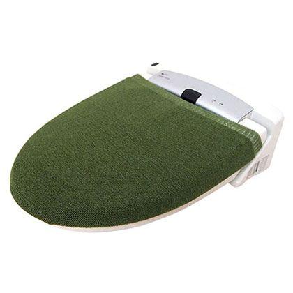 オカトー カラーモードプレミアム兼用フタカバー グリーン U型・O型、洗浄暖房用兼用 247979