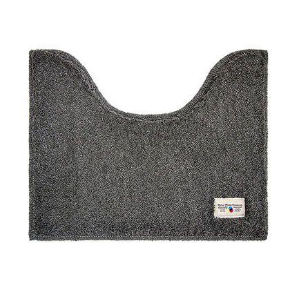 オカトー カラーモードプレミアムミニトイレマット グレー 約縦40×横50(cm) 247999