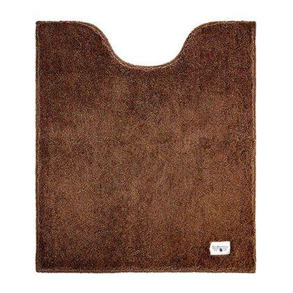 オカトー カラーモードプレミアムロングトイレマット ブラウン 約縦80×横70(cm) 248014