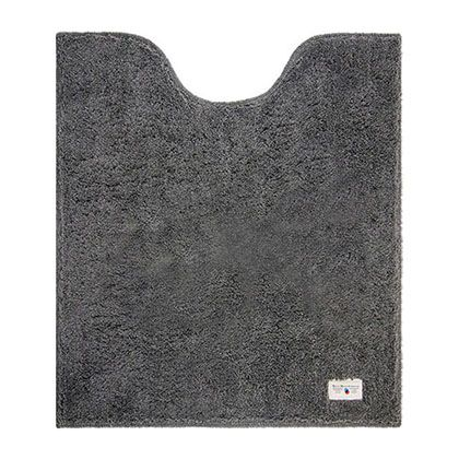 オカトー カラープレミアムロングトイレマット グレー 約縦80×横70(cm) 248015