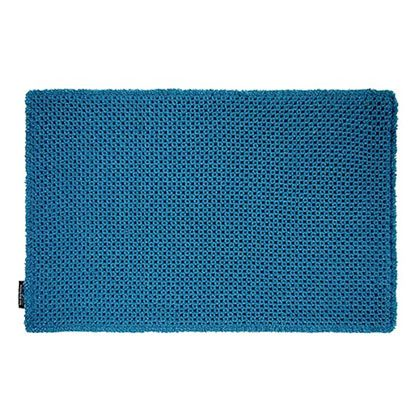 オカトー カラープレミアムワッフルバスマット ターコイズブルー 約縦50×横80(cm) 248041
