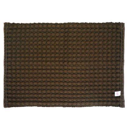 足ウラ快適バスマット ポコポコ ブラウン 約幅50×奥行35(cm)