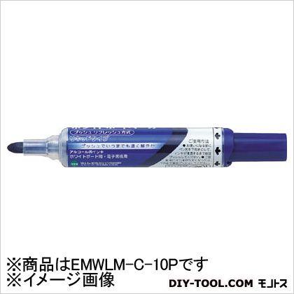 ペンテル ホワイトボードマーカー中字青(10本入) EMWLM-C-10P 10本