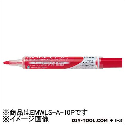 ペンテル ホワイトボードマーカー細字黒(10本入) EMWLS-A-10P 10本