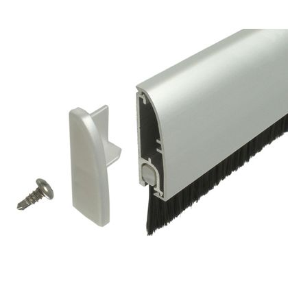 【送料無料】ピンチブロック フロアーリック外付けタイプ店舗ドア用 シルバー 1000mm FL-AB-1000 0