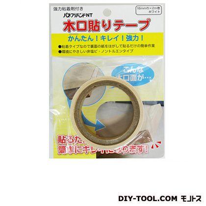粘着木口テープ ホワイト 18mmX2m 6113200