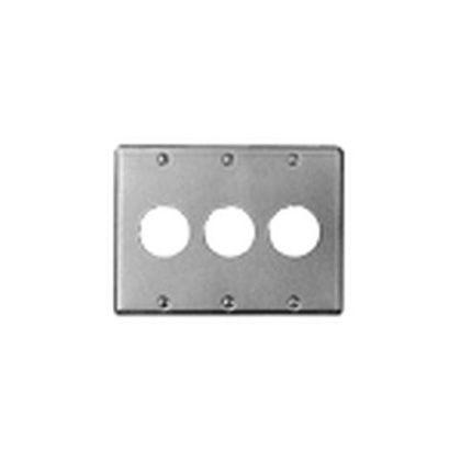新金属プレート(コンセントプレート)φ35.5(3連)   WN9533