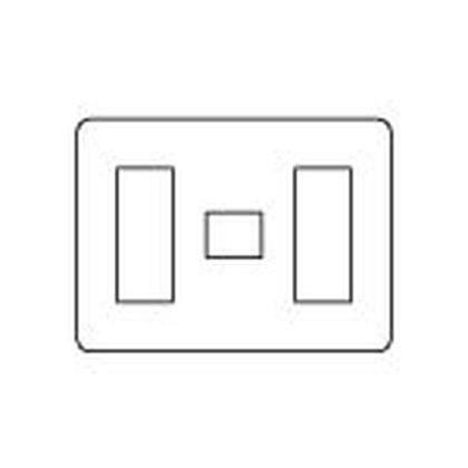 ラフィーネアシリーズコンセントプレート(ラウンド)7個用/3個+1個+3個用 ウォームシルバー  WTX7077S