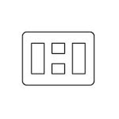 ラフィーネアシリーズコンセントプレート(ラウンド)8個用/3個+2個+3個用 ウォームシルバー  WTX7088S