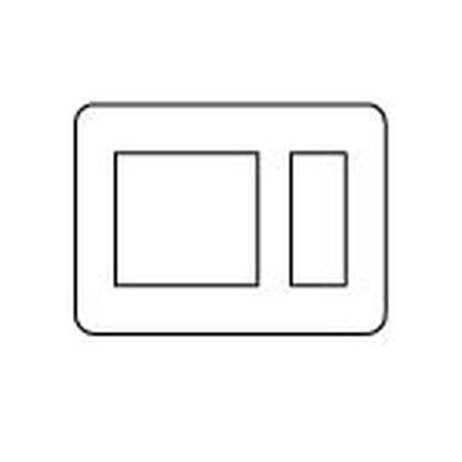 ラフィーネアシリーズコンセントプレート(ラウンド)2連接穴+3個用 ウォームシルバー  WTX7503S