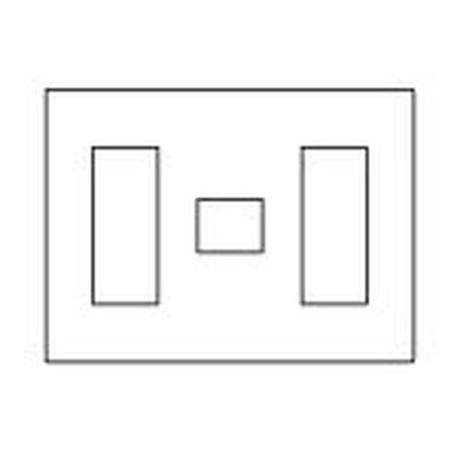 ラフィーネアシリーズコンセントプレート(スクエア)7個用/3個+1個+3個用 ウォームシルバー  WTX8077S