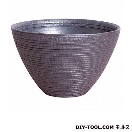 プラスガーデン 睡蓮鉢シェル ブラック 530-02