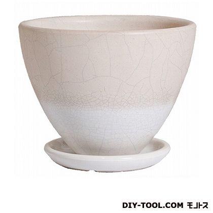 プラスガーデン 植木鉢トレーネミドル受皿付 533-11 チタンホワイト