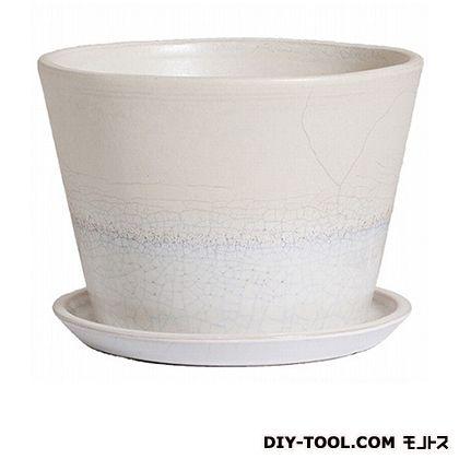 プラスガーデン 植木鉢ルフトミドル240皿付 550-11 チタンホワイト