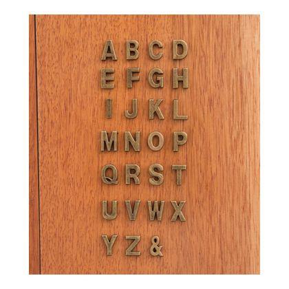 アルファベットパーツU  奥0.5×高1.8cm 62874