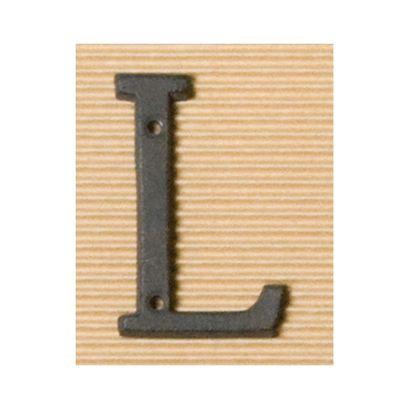 ポッシュリビング アイアンアルファベットL 奥0.5×高8cm 62384 アンティーク ガーデニング デコレーション