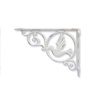 アイアンブラケットバード ホワイト 巾3.5×奥23.5×高17.5cm 62324