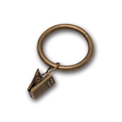 ポッシュリビング カーテンクリップ アンティークゴールド 巾4×高6.5cm 63095 6個 3セット