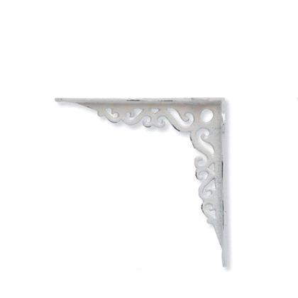 アイアンブラケット ホワイト 巾3.5×奥18.5×高18.5cm 62035