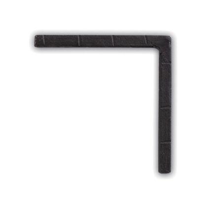アイアンブラケット ブラック 巾1×奥8×高8cm 62786