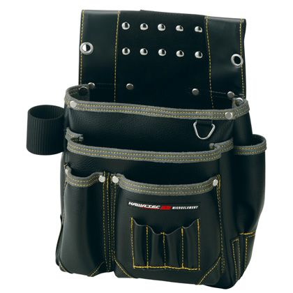 【送料無料】プロスター New Kw2 仮枠釘袋 工具差付(大) ブラック H340×W320×D130mm KE-804B