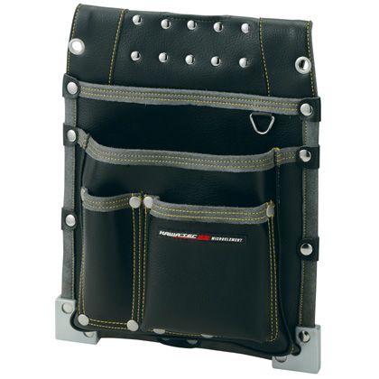 【送料無料】プロスター New Kw2 仮枠釘袋 職人タイプ(大) ブラック H365×W290×D75mm KE-813B