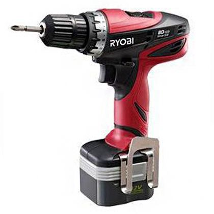 RYOBI/リョービ 充電式ドリルドライバー電池パック2個付き(647522A) 366 x 169 x 284 mm BD-123