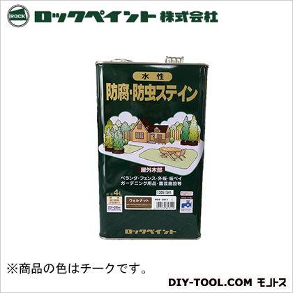 【送料無料】ロックペイント ナフタデコール水性防腐・防虫ステイン チーク 4L H85-3003 0