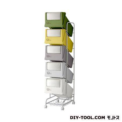 分別ごみ箱5分別ごみ箱ステンレスフラップコンテナスタイル3CS3-100SMX4 ミックス(グリーン・イエロ・グレー)  226907