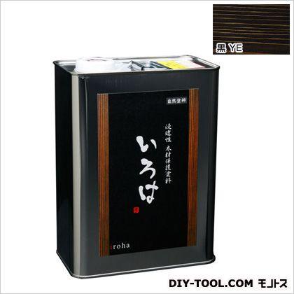 【送料無料】アールジェイ いろはカラー浸透性木材保護塗料 黒 3.5L YE-03