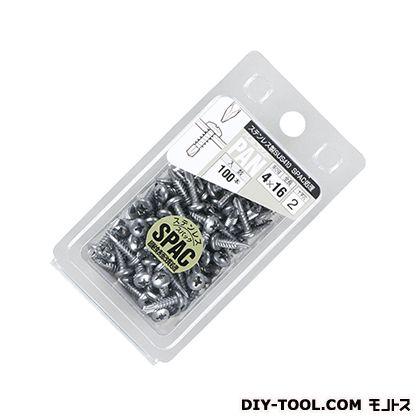 ステンレス製ドリルスクリュー ナベ頭 パック品  4X16mm PAN-4X16SP 100 本