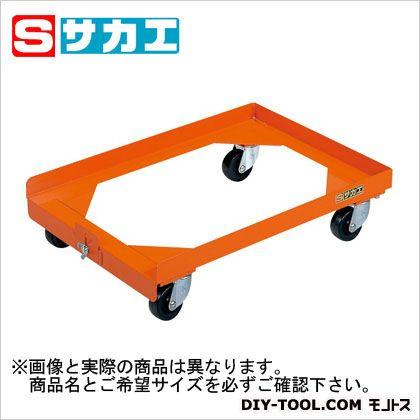 サカエ コンテナ台車 オレンジ S4DOR